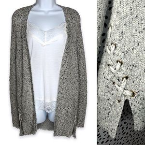 American Eagle cardigan lace up side detail